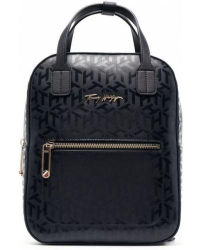 Синяя сумка с ручками на молнии с карманами Tommy Hilfiger