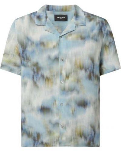 Koszula z jedwabiu - niebieska The Kooples