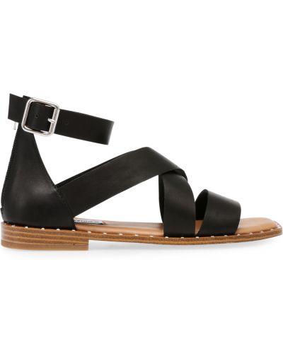 Czarne sandały sportowe srebrne Steve Madden