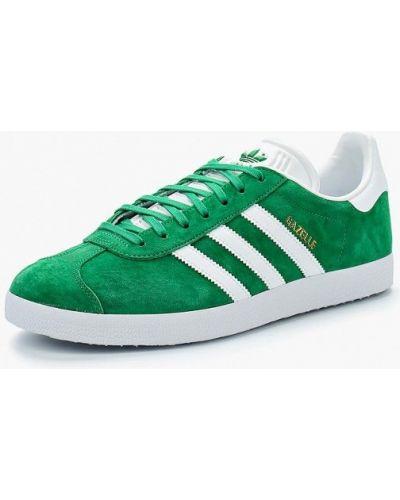 Зеленые кеды замшевые Adidas Originals