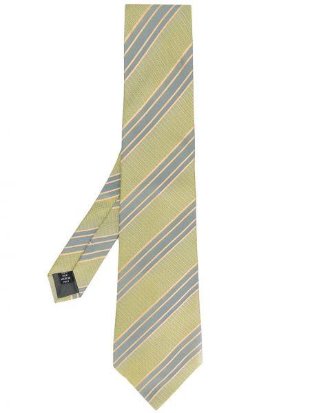 Złoty krawat - zielony Gianfranco Ferré Pre-owned