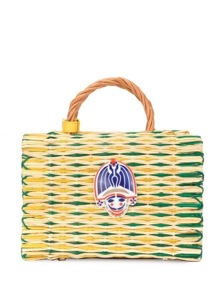 Соломенная кожаная сумка круглая Heimat Atlantica