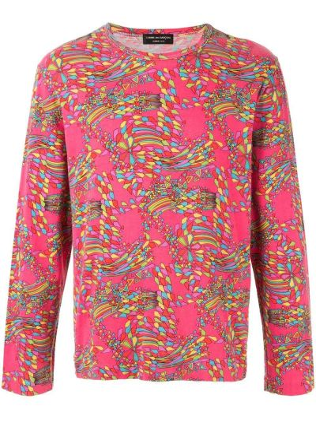 Прямой розовый топ винтажный с круглым вырезом Comme Des Garçons Pre-owned