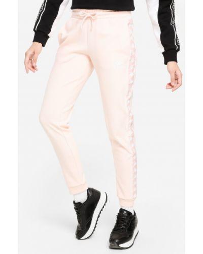Розовые спортивные брюки с поясом Kappa