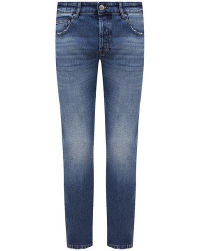 Хлопковые синие джинсы с подвесками Don The Fuller
