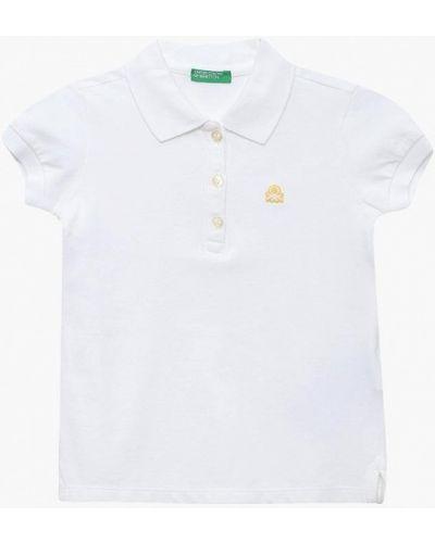 Белое поло United Colors Of Benetton