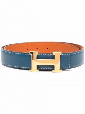Pasek srebrny - niebieski Hermes