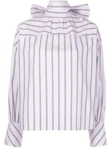 Koszula w paski w paski - fioletowa Ganni