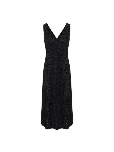Платье миди из вискозы с люрексом St. John