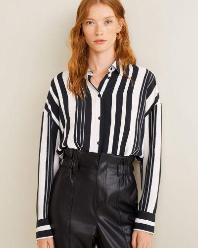 Блузка с длинным рукавом прямая в клетку Mango