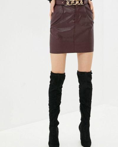 Красная кожаная юбка Elsi