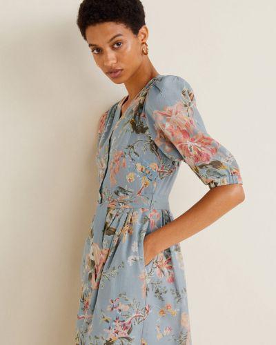 Платье миди с карманами на пуговицах Mango