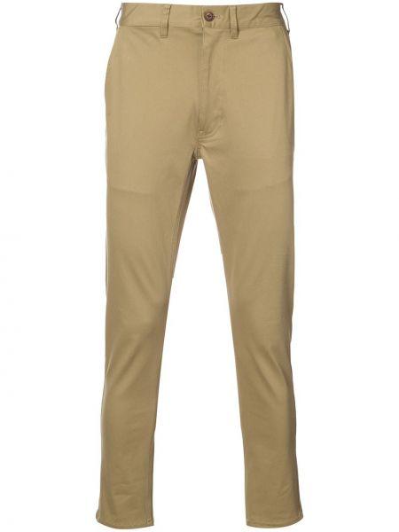 Бежевые зауженные брюки бязевые 321
