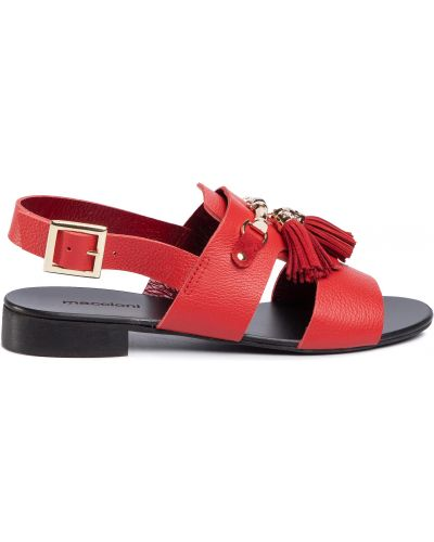 Босоножки на каблуке - красные Maccioni