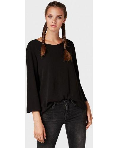 Блузка с длинным рукавом осенняя черная Tom Tailor Denim