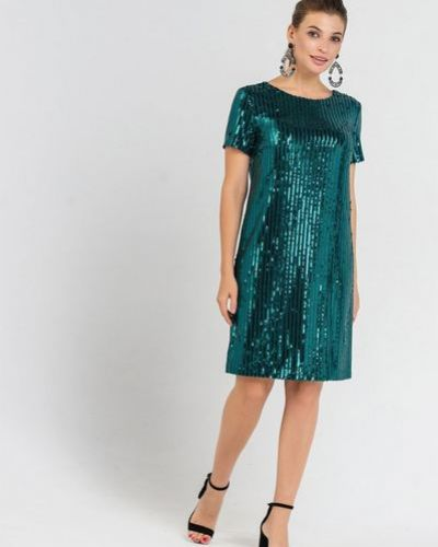 Облегающее синее вечернее платье с пайетками Vovk