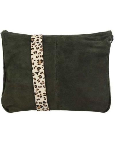 Zielona torba na ramię skórzana Treats