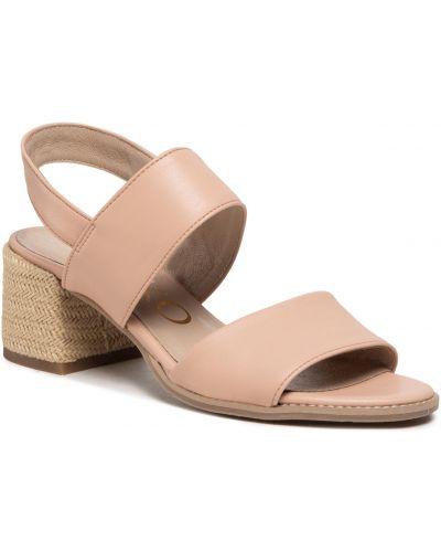 Sandały espadryle - beżowe Ryłko