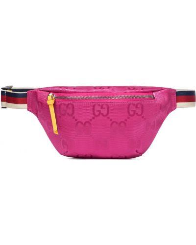 Nylon różowy pasek z paskiem Gucci Kids