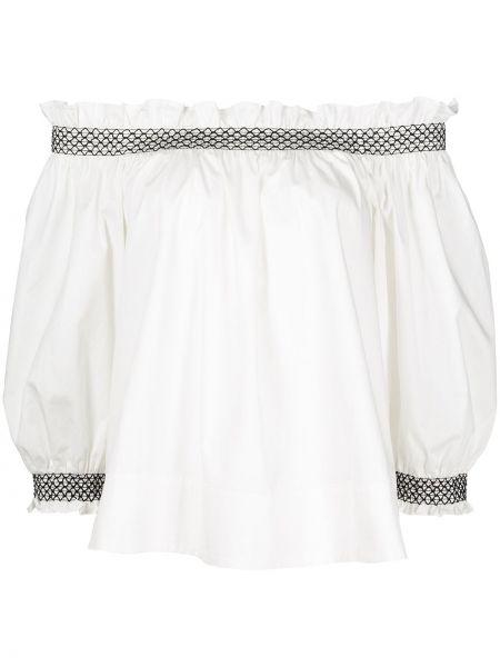 Biała koszulka bawełniana Cynthia Rowley