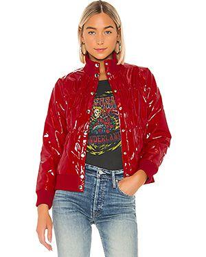 Дутая куртка лаковый с карманами Chaser