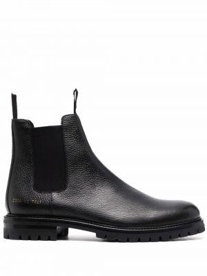 Кожаные ботинки - черные Common Projects