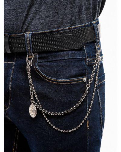 Łańcuch ze srebra srebrny Ombre