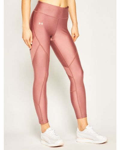 Różowe legginsy skorzane Under Armour