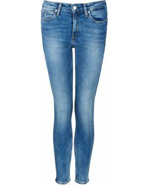 Укороченные джинсы скинни синие Calvin Klein Jeans