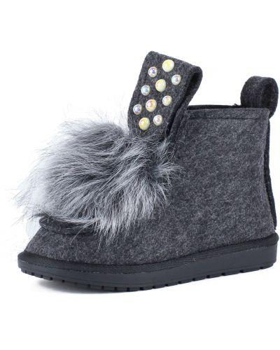 Фетровые серые ботинки без застежки Betsy