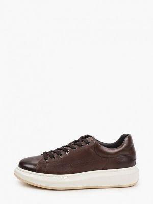 Кожаные коричневые низкие кроссовки Roberto Piraloff