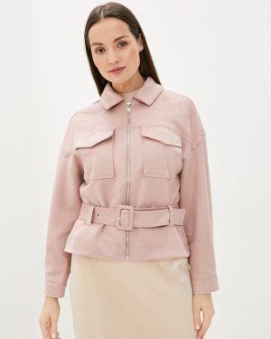 Розовая кожаная куртка Zarina