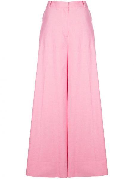 Розовые свободные брюки с поясом Rodebjer