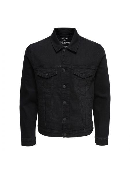 Джинсовая куртка хлопковая прямая Only & Sons