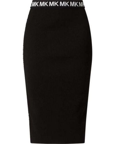 Czarna spódnica prążkowana Michael Michael Kors