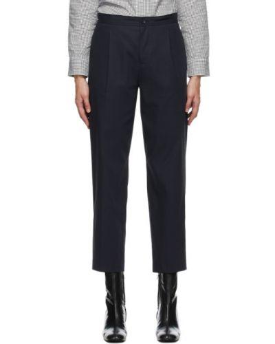 Ватные хлопковые брючные укороченные брюки с карманами A.p.c.