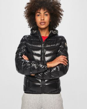 Прямая черная нейлоновая стеганая куртка Colmar