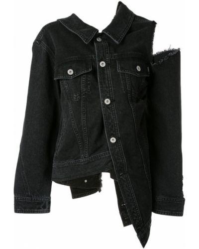 Серая джинсовая куртка с манжетами на пуговицах Ground Zero