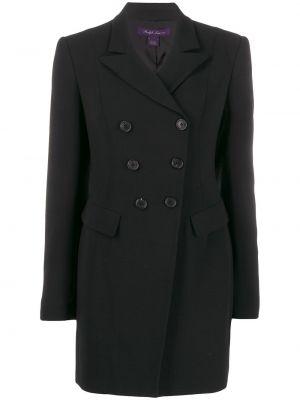 С рукавами черная куртка двубортная Ralph Lauren Collection
