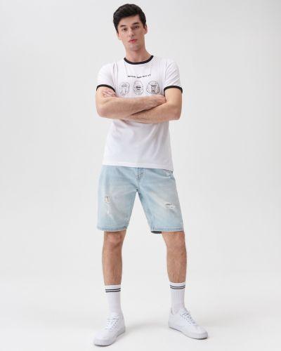 Белая футболка летняя Sinsay