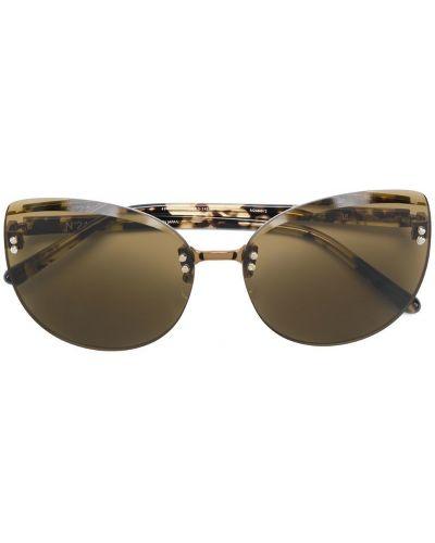 Солнцезащитные очки круглые коричневый N21
