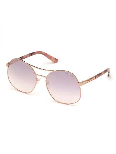 Złote różowe okulary Marciano Guess