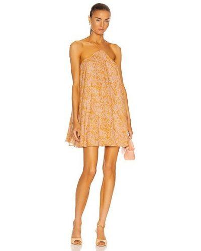 Пляжное желтое вечернее платье с подкладкой Alexis