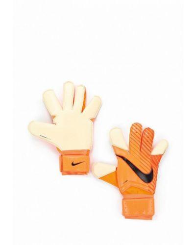 Оранжевые перчатки весенние Nike