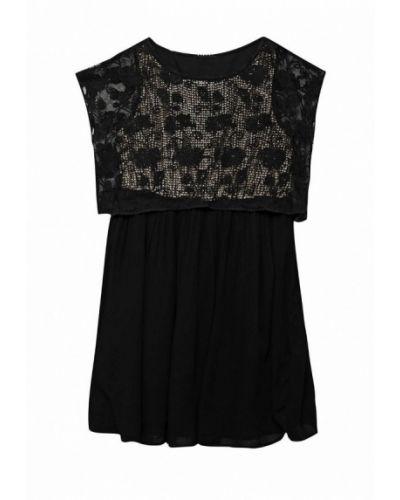 Черное платье Sisley
