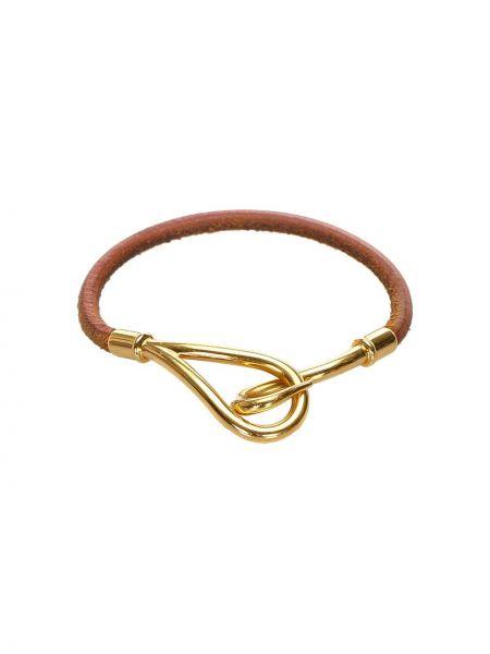 Brązowa złota bransoletka Hermes