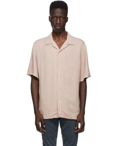 Pomarańczowa koszula krótki rękaw z wiskozy Rag & Bone
