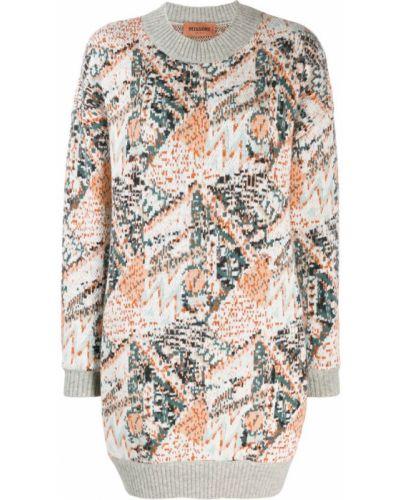Платье в рубчик с вырезом Missoni