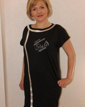 Платье черное инсантрик