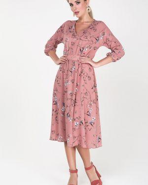 Платье с поясом с V-образным вырезом платье-сарафан Valentina